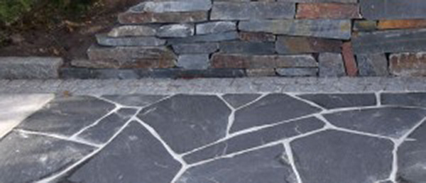 Nordic Black flagstones Standard