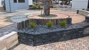 Trockenmauersteine, anthrazit, 25-30 cm Einbindetiefe